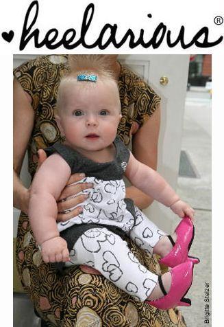 Bébé.....chaussures à talon!!!!!
